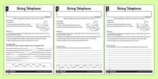 String Telephone Differentiated Activity Sheet