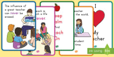 * NEW * Teacher Appreciation Display Posters