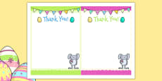 Easter Party Thank You Cards