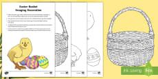 Easter Basket Hanging Decoration Craft Instructions