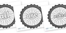 Tricky Words on Bike Wheels