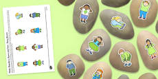 Head, Shoulders, Knees and Toes Story Stones Image Cut-Outs