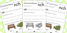 Phase 4 Final Blends Letter Formation Activity Sheets