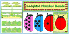 Ready Made Ladybird Themed Number Bonds to Ten Activity and Display Pack (Minibeasts)