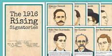 1916 Rising Signatories Fact Files Posters