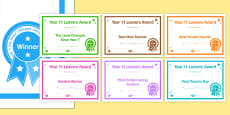 Year 11 Leavers Award Certificates