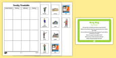 My Family Timetable Busy Bag Prompt Card and Resource Pack