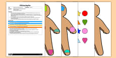Gingerbread Man Shape Matching EYFS Busy Bag Plan and Resource Pack