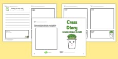 Growing Cress Diary Writing Frame Romanian Translation