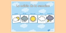Calendrier d'affichage : La météo de la semaine