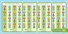 Next 200 Common Words on War Medals