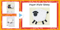 Paper Plate Sheep Craft Instructions PowerPoint