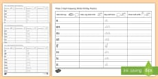 Phase 2 High Frequency Words Writing Practice Activity Sheets