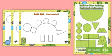 Build a Shape Dinosaur Activity English/Italian