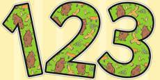 The Gruffalo Themed Display Numbers