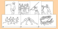 Ancient Olympics Colouring Pages