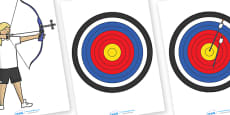 The Olympics Editable Archery Images