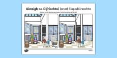Ionad Siopadóireachta, Aimsigh na Difríochtaí Activity Sheet