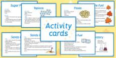 Sensory Activity Cards