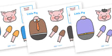 Split Pin (Three Little Pigs Characters)
