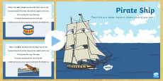 * NEW * Pirate Ship Counting Song PowerPoint