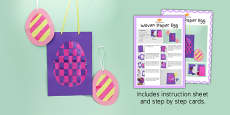 Woven Paper Egg Craft Instructions