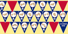 New Zealand Sign Language Week Display Bunting