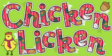 Chicken Licken Title of the Book Display Lettering