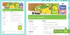 Treaty treats Kiwifruit lemonade Recipe