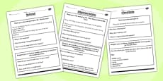 The Secret Garden Challenge Activity Worksheets