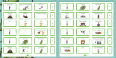 Jack and the Beanstalk Sentence Building Cards