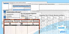 PlanIt - Computing Year 4 - Scratch Questions and Quizzes Unit Assessment Pack
