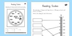 Australia - Reading Scales Activity Sheets