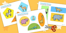 Safari Themed Cutting Skills Activity Sheets