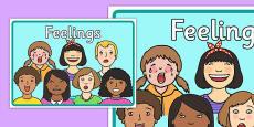 Feelings A4 Display Poster