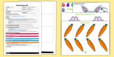 Easter Bunny Number Game EYFS Adult Input Plan and Resource Pack