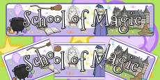 School of Magic Display Banner
