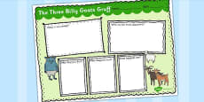 The Three Billy Goats Gruff Story Review Writing Frame