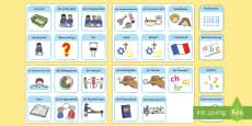 DaF/DaZ Visueller Stundenplan für die Klassenraumgestaltung