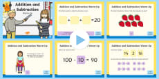 * NEW * Year 2 Addition and Subtraction Warm-Up PowerPoint