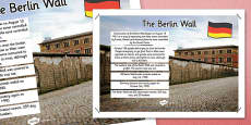 The Berlin Wall Facts Display Poster
