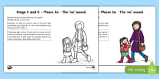 Northern Ireland Linguistic Phonics Stage 5 and 6 Phase 3a, 'oa' sound Activity Sheet