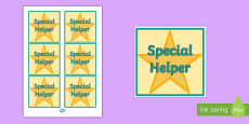 Special Helper Badge
