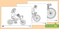 Bike Week Colouring Pages