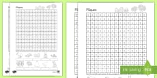 * NEW * French Easter Word Search French