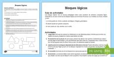 Guía para usar los bloques lógicos - Material de matemáticas manipulativo