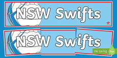 NSW Swifts Netball Display Banner Australian
