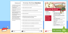 Christmas Shortbread  Recipe Differentiated Reading Comprehension Activity