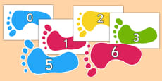 Numbers 0-30 on Footprints