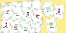 Two Syllable GL Flash Cards